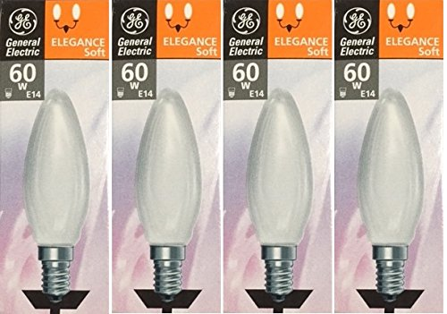 4-x-ge-elegance-soft-opal-60w-candle-light-bulbs-ses-e14-b35-classic-clear-incandescent-small-screw-