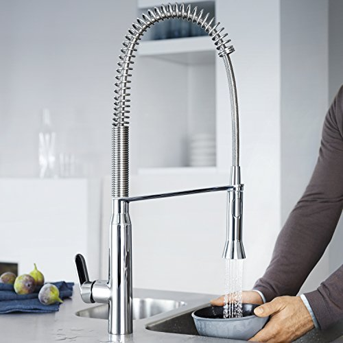 GROHE 32950000 K7 Kitchen Tap (High Spout, Professional Spray and Starlight)
