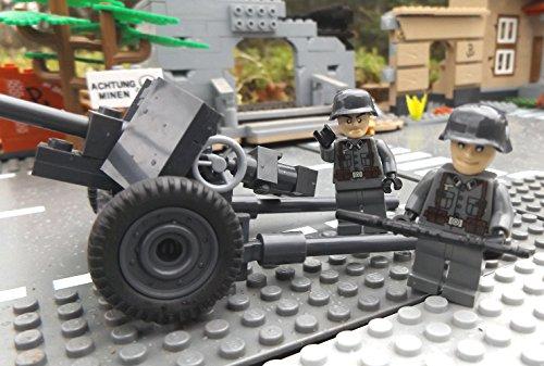 Modbrix 2185 – ☠ Panzerabwehrkanone PAK 40 inkl. Custom Elite Wehrmacht Soldaten aus Lego© Teilen ☠ - 2