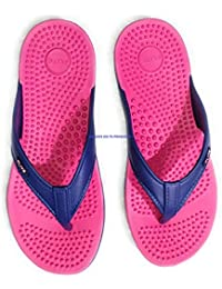 63cd47999 FLITE Accupressure Stylish Slippers for Women Fl-291 Blue Pink 6UK (BBH-FL