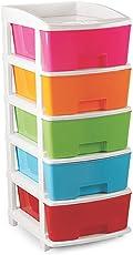 Goldstar 5 Tier Fusion Drawer,Storage Organiser(Multicolour)