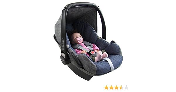 Bambiniwelt Ersatzbezug Für Maxi Cosi Pebble 5 Tlg Bezug Für Babyschale Komplett Set Grau Marine Xx Baby