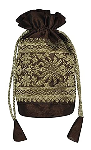 sac Vintage Designer de la corde soie Coin Organza Pouches