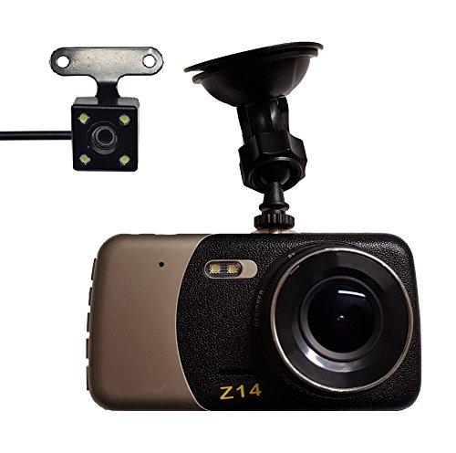 "SMARTEX | Auto Dual Dash Cam Smartex Autokamera FULL HD 1080p 4"" und 170° Weitwinkelobjektiv / Vorne Videokamera und Rückfahrkamera"