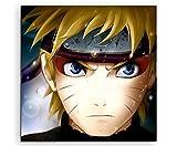 Naruto Uzumaki Anime Leinwandbild in 60x60cm Made in Germany! Preiswerter fertig gerahmter Kunst-Druck zum Aufhängen - tolles und einzigartiges Motiv. Kein Poster oder Plakat!