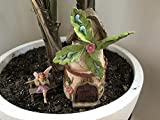 Patio Eden - Fairy Garden House Set - Miniature Figurine Kit - Garden Accessories
