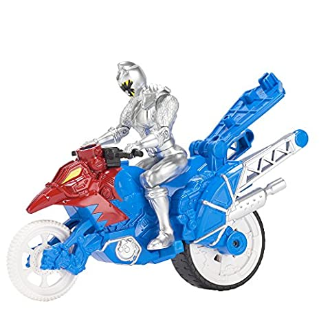 Bandai - 43078 - Power Rangers - Moto cascade + Figurine - 12 cm - Argent