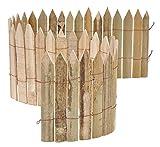 HI Beetumrandung Beeteinfassung Bambus 100x20 cm Rasenkanten
