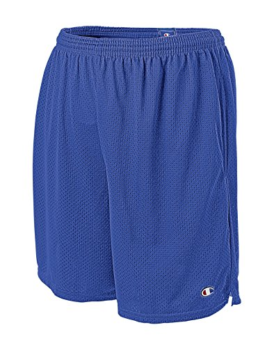 Champion Men's Long Mesh Short with Pockets, Surf The Web, 3XL -