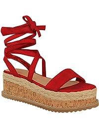on sale 50da5 70908 Suchergebnis auf Amazon.de für: Sandalen Schnüren - Rot ...