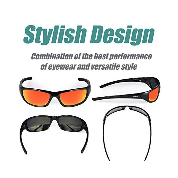 Duduma Tr8116 Polarised Sports Sunglasses for Mens and Womens Design for Ski Baseball Golf Cycling Fishing Running Driving Superlight Frame 2