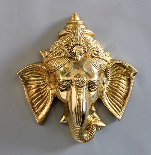 PINK-LOTUS Ganesh/Ganesha-Tür-Aufhängung, Messing, 15,2 cm x 12,7 cm