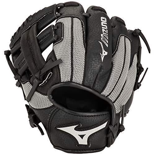 Mizuno Prospect PowerClose Youth Baseballhandschuh Serie, GPP900Y3BG, Black/Grey T Web, 9