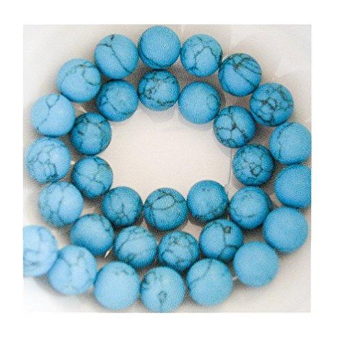 Beautiful Bead cuentas redondas de 12mm azul turquesa 16pulgadas Strand para collar pulsera joyería Making