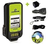G-PORTER GP-102+ GPS- Multifunktionsgerät (grün) - Set mit 110-240V Netzteil und 12V KFZ-Adapter