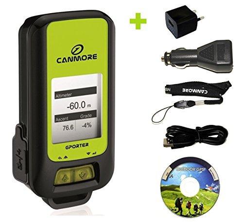G-PORTER GP-102+ GPS- Multifunktionsgerät (grün) - Set mit 110-240V Netzteil und 12V KFZ-Adapter -