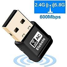 Receptor WIFI,WiFi USB Adaptador Antena WiFi Largo Alcance Adaptador Inalámbrico USB Mini Receptor WIFI Dongle WiFi Adaptador USB Wifi del adaptador (EWA1001)