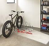Mottez b129V3x L Fahrradständer für 3Fahrräder auf 2Etagen Fat Bike, Grau