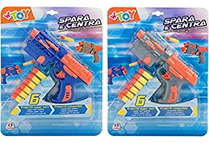 GLOBO- Gun W/ 6 Soft Bullets 2 (38396), (1)