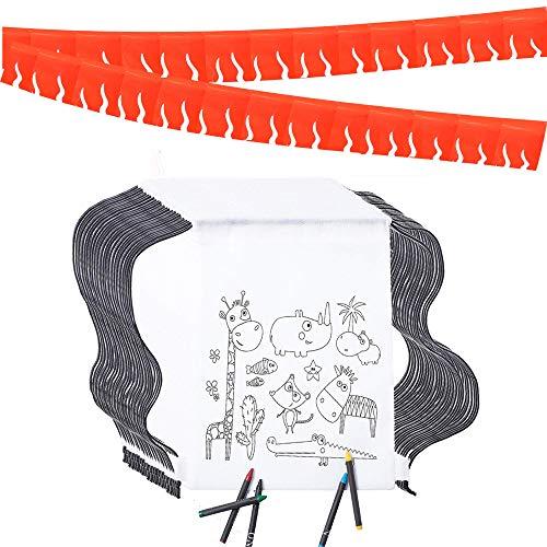 Piñatas de Cumpleaños Infantiles Partituki. 20 Mochilas de Colorear, 20 Sets de...