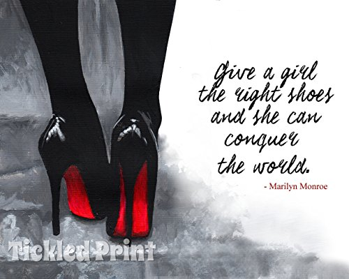 art-print-christian-louboutin-shoes-quotation-quote-black-white-red-on-pavement-watercolour-personal