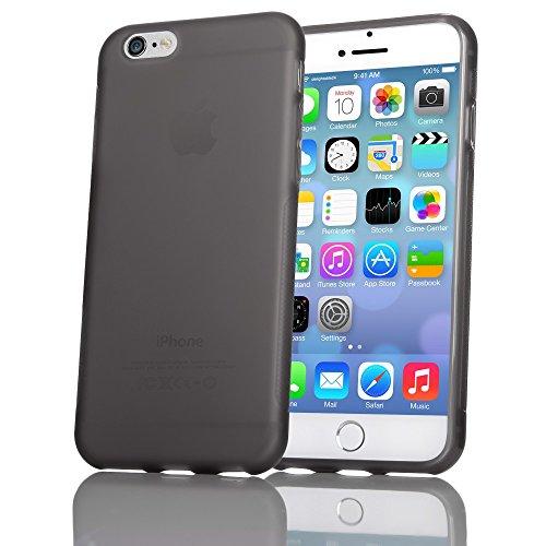 iPhone 8 / 7 Hülle Handyhülle von NICA, Ultra-Slim Silikon Case Gummihülle, Matter Anti-Rutsch Schutz Dünn, Etui Handy-Tasche Back-Cover Bumper für Apple iPhone-7 / 8 Smartphone - Transparent Grau