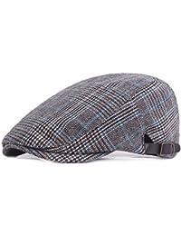 Doitsa 1pcs hombre mujer primavera y otoño algodón sombrero de boina lengua de pato Sombrero exterior azul Bleu foncé 55-60CM