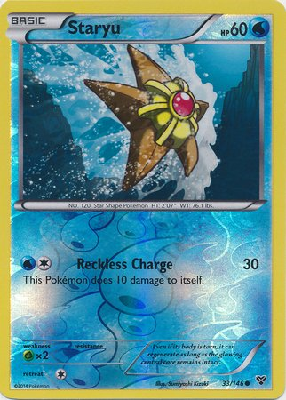 Pokémon Single Card - STARYU *Reverse Holo* #33/146 XY