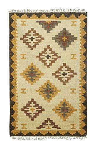 Jute & co. tappeto, passatoia kilim originale di alta qualità tessuto a mano, lana, multicolore, 140x70x0.50 cm