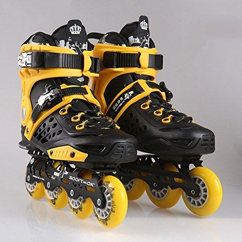 Sunkini Professionelle Erwachsene Speed Skate Schuhe Rollschuhe Frauen/Männer Inline Skating Schuhe PP Material ABEC-9 Bearing (Größe : 38)