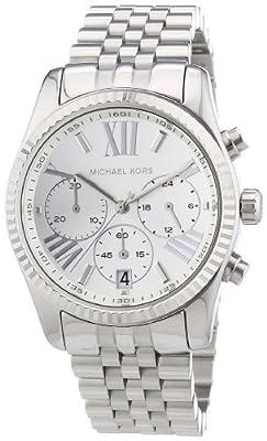 Reloj Michael Kors MK5555 de cuarzo para mujer con correa de acero inoxidable, color plateado de Michael Kors