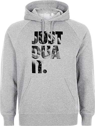 JUST DUA IT - HAND TO THE SKY Make DUA - ISLAM HOODIE SLAMISCHE STREETWEAR KAPUZENPULLI KAPUZENPULLOVER KLEIDUNG FÜR MUSLIME BEDRUCK OUTDOOR ISLAM FASHION Muslim are not Terrorist! (XL, Grau)