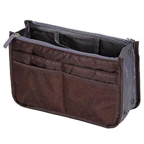 TDFGCR Multifunktions-Handtaschen-Geldbeutel-Einsatz-MP3-Telefon-kosmetische Aufbewahrungstasche—Kaffee -