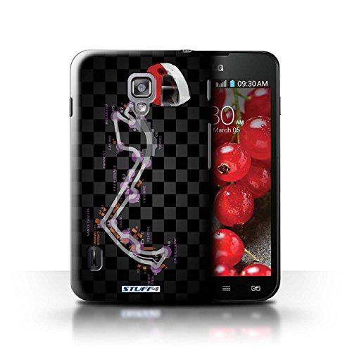 Kobalt® Imprimé Etui / Coque pour LG Optimus L7 II Dual / Russie/Sochi conception / Série 2014 F1 Piste Monaco/Monte Carlo
