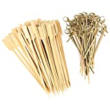 K&G ED871_x2 Bambus-Spieße 100tlg. Set 2 versch. Größen | Holzspieße | Partyspieße | Fingerfood | Obst-Spieß | Cocktailspieße | Antipasti | Büffet