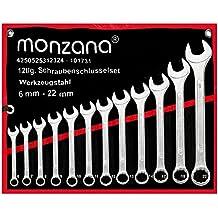 Schraubenschlüssel ✔ Werkzeugstahl ✔ inkl. Rolltasche ✔ 12tlg. Werkzeugset 6-22mm - 【Setauswahl】 - Ring Maulschlüssel Ringschlüssel Maulringschlüssel Ringschlüssel Schrauben Schlüssel