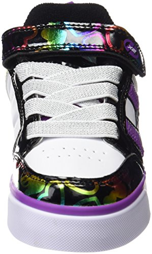 Heelys Unisex Bolt Plus 770571 Lauflernschuhe Sneakers, White/Black/Rainbow Hearts, 36 EU Mehrfarbig