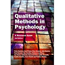 Qualitative methods in psychology: a research guide: A Research Guide