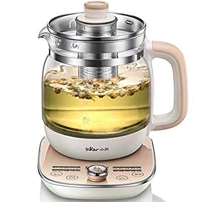 Bear Bouilloire Électrique en Verre 1.5 Liters Electric Kettle Health Pot Fully Automatic Thickened Glass ?? ??? YSH-A15W6