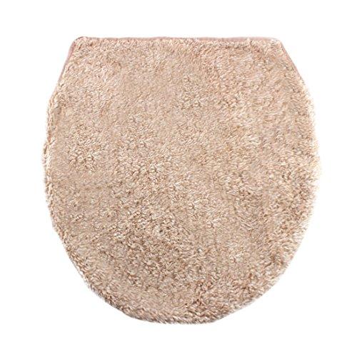 Sourcingmap® bagno lavabile più calde a forma u coperchio wc tappeto coperchio beige pastiglie