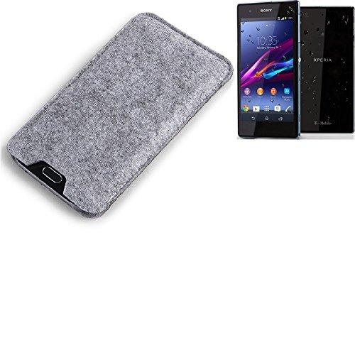 K-S-Trade per Sony Xperia Z1 Compact Custodia Feltro per Cellulare Custodia Morbida Protettiva Sacchetto Protezione Manica Astuccio Copertina Grigio per Smartphone Sony Xperia Z1 Compact