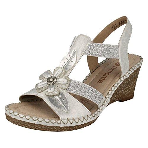Remonte DorndorfD6737-90 - Peep Toes Donna , Bianco (bianco), 39