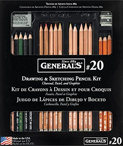 General Crayon différents Classic Kit de dessin et croquis