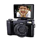 Video Camera Digital Camera Full HD 1080p 24MP Camcorder 3.0-Inch LCD Vlogging Camera with UV Lens Mini Video Camcorders