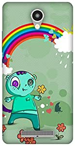 The Racoon Lean Happy Monsters hard plastic printed back case/cover for Xiaomi Redmi Note 2