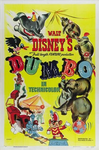 Dumbo Movie Poster (27 x 40 Inches - 69cm x 102cm) (1941) Style F -(Sterling Holloway)(Edward Brophy)(Verna Felton)(Herman Bing)(Cliff Edwards) by MG Poster