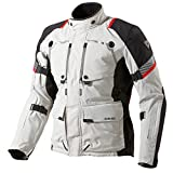 FJT169 3610-XYL - Rev It Poseidon Gore-Tex GTX Motorcycle Jacket 3XL Light Grey-Black by Rev'It