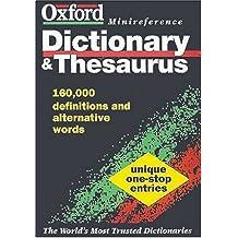 Oxford Miniref Dict Thesaurus (Oxford Minireference)