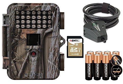 Wildkamera DÖRR SnapShot MINI 5.0 850nm IR 12MP HD Fotofalle Premium Set mit MasterLock Kabelschloss