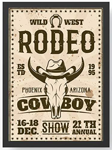 Retro Vintage Western Rodeo Kunstdruck Poster -ungerahmt- Bild DIN A4 A3 K0116 Größe A3